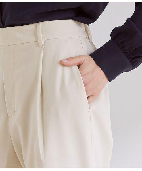 ROPE' / ロペ スラックス・ドレスパンツ | 【洗える】【オフィス/お仕事】タックテーパードパンツ(セットアップ対応) | 詳細8