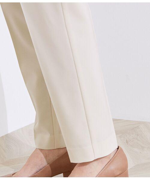ROPE' / ロペ スラックス・ドレスパンツ | 【洗える】【オフィス/お仕事】タックテーパードパンツ(セットアップ対応) | 詳細9