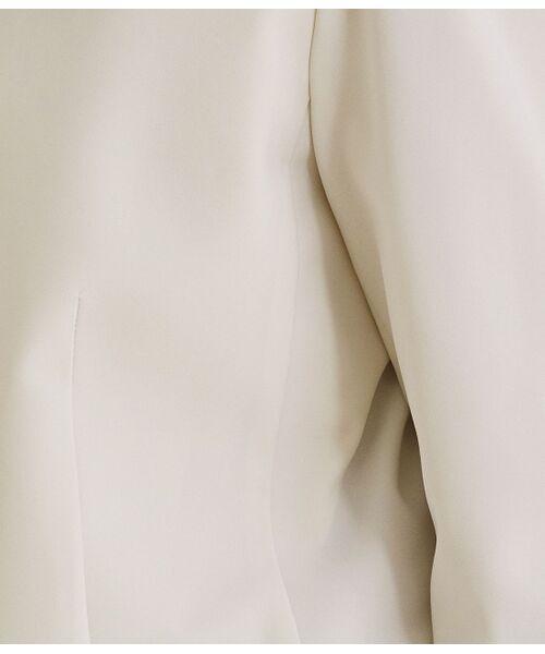 ROPE' / ロペ ノーカラージャケット | 【洗える】【オフィス/お仕事】【セットアップ対応】ノーカラーVネックジャケット | 詳細11