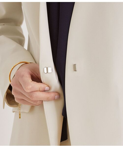ROPE' / ロペ ノーカラージャケット | 【洗える】【オフィス/お仕事】【セットアップ対応】ノーカラーVネックジャケット | 詳細9