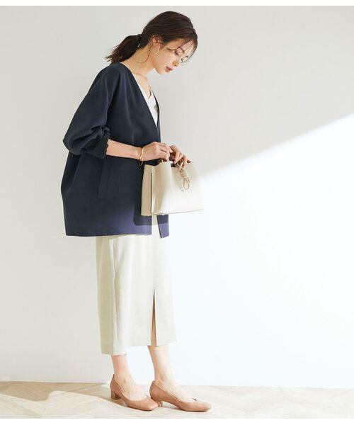 ROPE' / ロペ その他アウター   Wフェイスフォルムリバーショートコート   詳細17