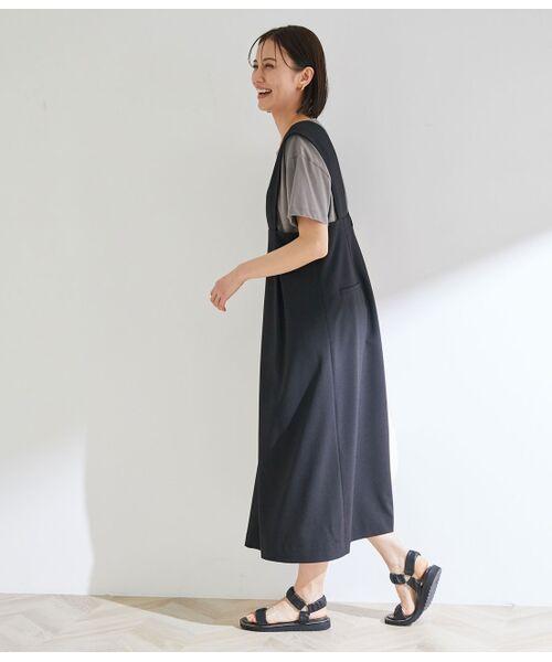 ROPE' / ロペ ワンピース | タックセミフレアージャンパースカート | 詳細12