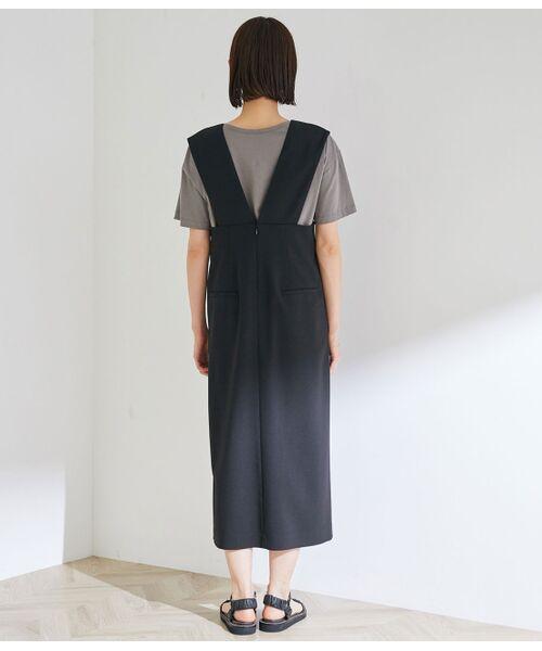 ROPE' / ロペ ワンピース | タックセミフレアージャンパースカート | 詳細6