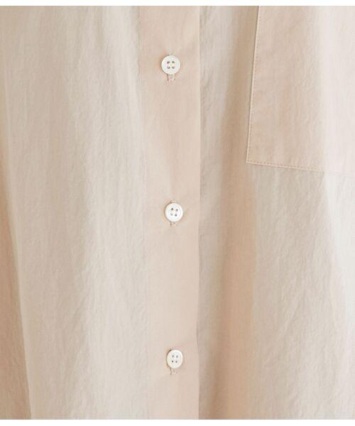 ROPE' / ロペ シャツ・ブラウス | 【洗える】タイプライターコットンBIGシャツ | 詳細12