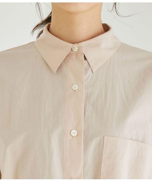 ROPE' / ロペ シャツ・ブラウス | 【洗える】タイプライターコットンBIGシャツ | 詳細8