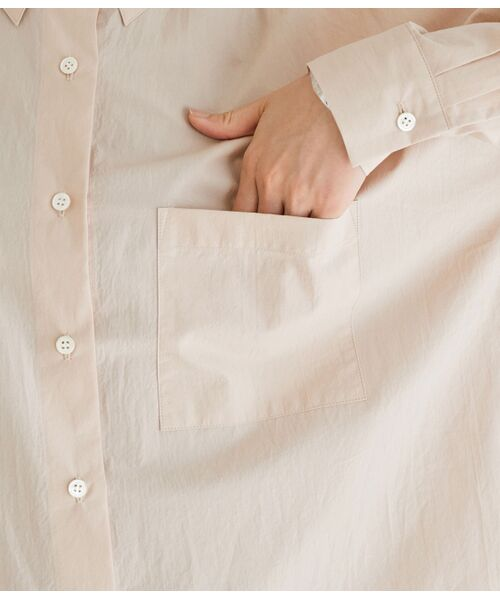 ROPE' / ロペ シャツ・ブラウス | 【洗える】タイプライターコットンBIGシャツ | 詳細9