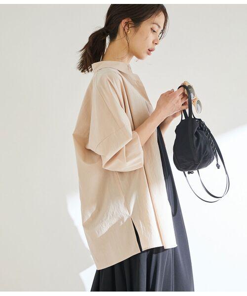 ROPE' / ロペ シャツ・ブラウス | 【洗える】タイプライターコットンBIGシャツ(ピンク(63))