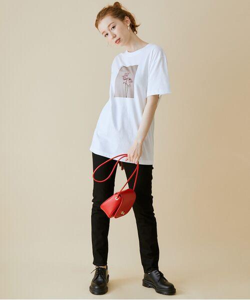 ROPE' / ロペ カットソー   【VTA for MADEMOISELLE】フラワーフォトショートスリーブ Tシャツ   詳細1