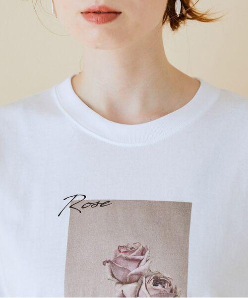 ROPE' / ロペ カットソー   【VTA for MADEMOISELLE】フラワーフォトショートスリーブ Tシャツ   詳細10