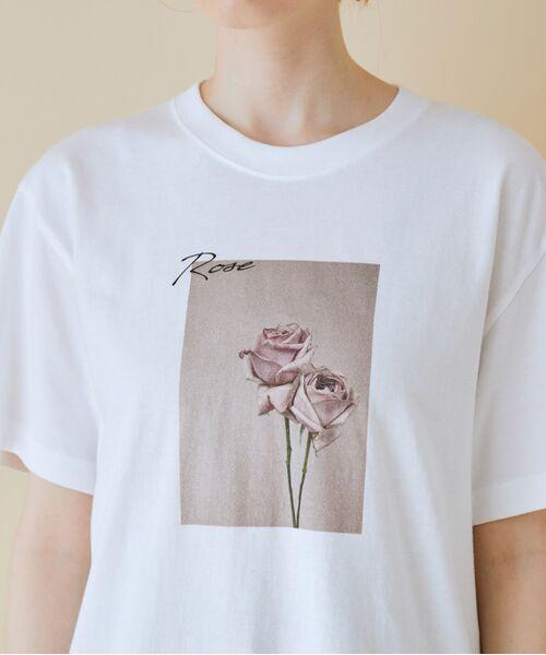 ROPE' / ロペ カットソー   【VTA for MADEMOISELLE】フラワーフォトショートスリーブ Tシャツ   詳細12