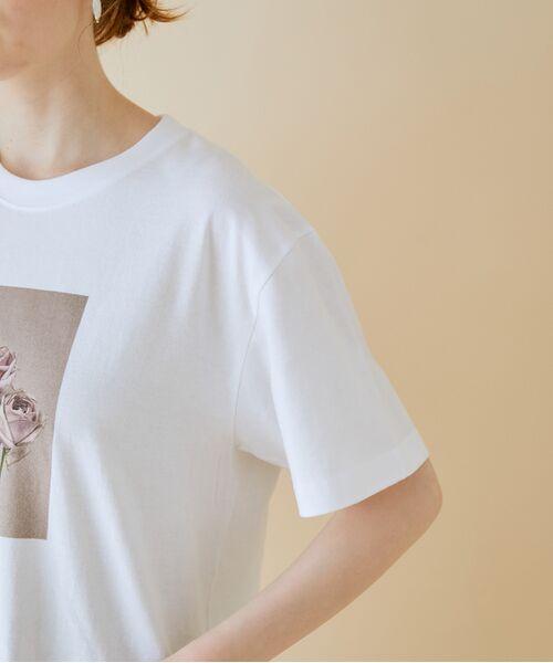 ROPE' / ロペ カットソー   【VTA for MADEMOISELLE】フラワーフォトショートスリーブ Tシャツ   詳細13