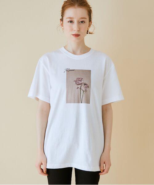 ROPE' / ロペ カットソー   【VTA for MADEMOISELLE】フラワーフォトショートスリーブ Tシャツ   詳細7