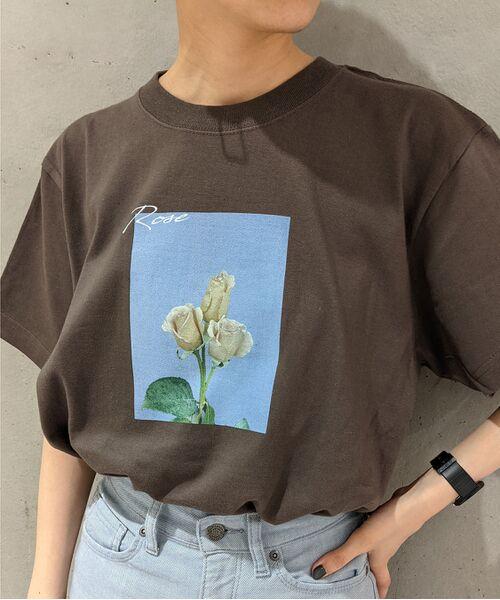 ROPE' / ロペ カットソー   【VTA for MADEMOISELLE】フラワーフォトショートスリーブ Tシャツ   詳細21