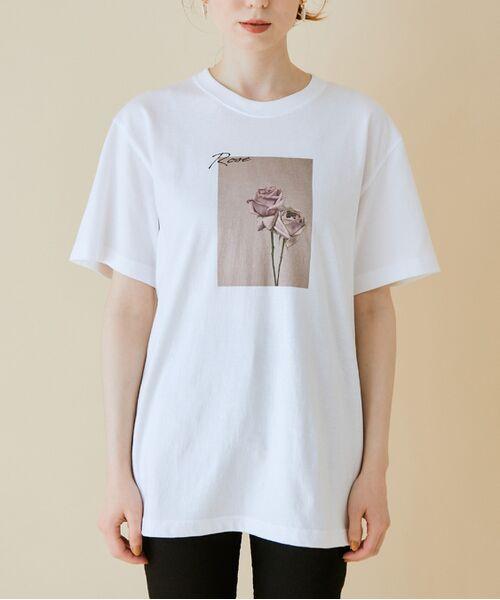 ROPE' / ロペ カットソー   【VTA for MADEMOISELLE】フラワーフォトショートスリーブ Tシャツ   詳細25