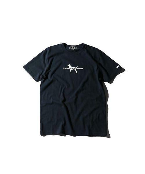 メンズフロントロゴプリントTシャツ