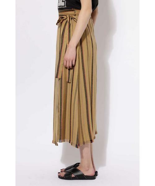 ROSE BUD / ローズ バッド スカート | ウエストリボンストライプマキシスカート | 詳細6