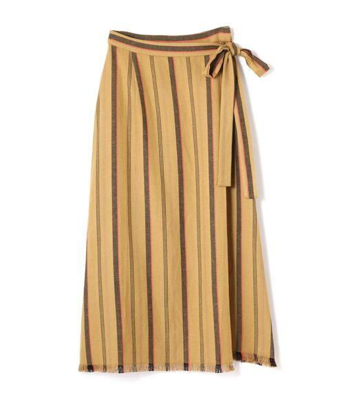 ROSE BUD / ローズ バッド スカート | ウエストリボンストライプマキシスカート | 詳細8