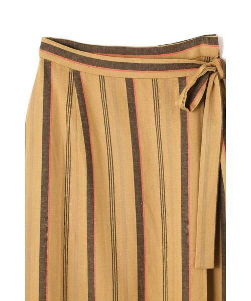 ROSE BUD / ローズ バッド スカート | ウエストリボンストライプマキシスカート | 詳細9