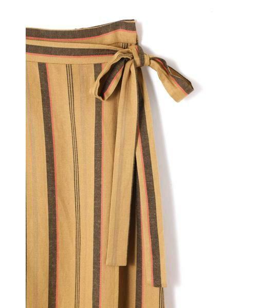 ROSE BUD / ローズ バッド スカート | ウエストリボンストライプマキシスカート | 詳細10