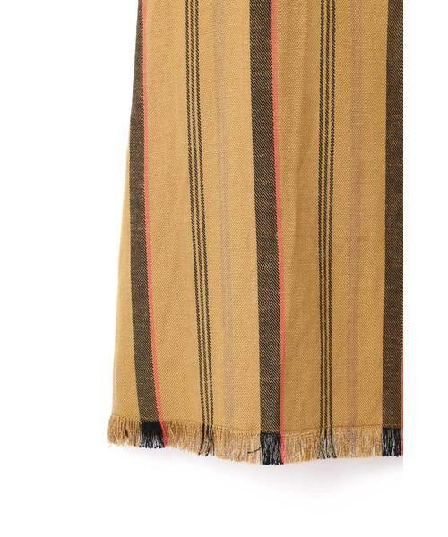 ROSE BUD / ローズ バッド スカート | ウエストリボンストライプマキシスカート | 詳細11