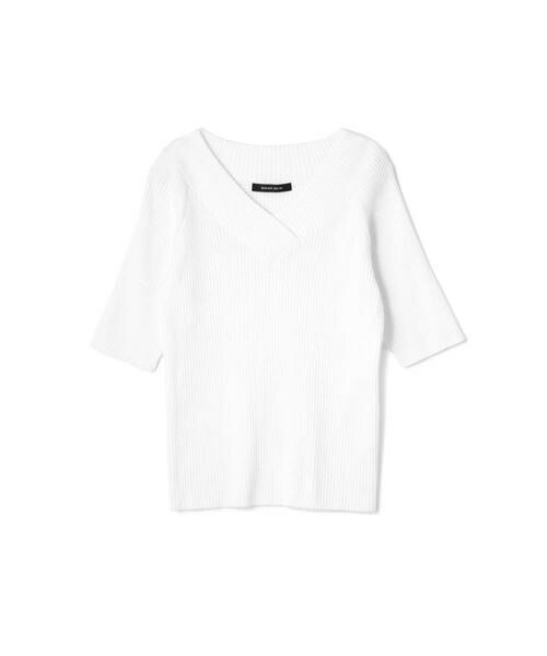 ROSE BUD / ローズ バッド ニット・セーター | 5分丈Vネックリブニット | 詳細4