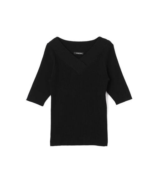 ROSE BUD / ローズ バッド ニット・セーター | 5分丈Vネックリブニット | 詳細13