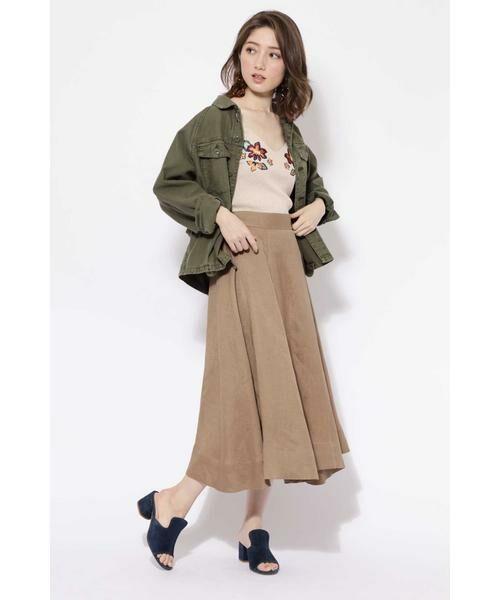ROSE BUD / ローズ バッド ニット・セーター | フラワー刺繍ニットキャミソール | 詳細1
