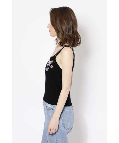 ROSE BUD / ローズ バッド ニット・セーター | フラワー刺繍ニットキャミソール | 詳細4
