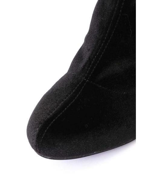 ROSE BUD / ローズ バッド ブーツ(ショート丈) | [GINZA1月号掲載]ミドル丈ベロアブーツ | 詳細2