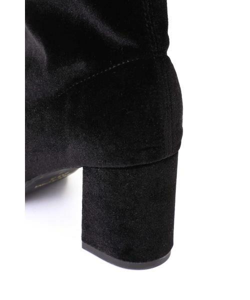 ROSE BUD / ローズ バッド ブーツ(ショート丈) | [GINZA1月号掲載]ミドル丈ベロアブーツ | 詳細3