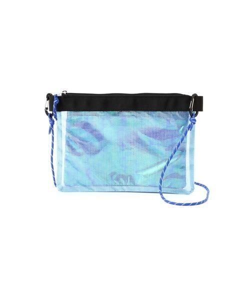 ROSE BUD / ローズ バッド ショルダーバッグ | PVCオーロラサコッシュバッグ(ブルー1)