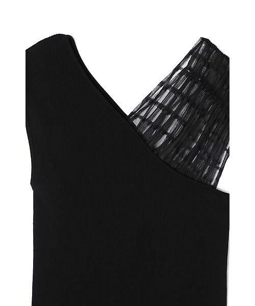 ROSE BUD / ローズ バッド ニット・セーター | チュールワンショルダーニット | 詳細4