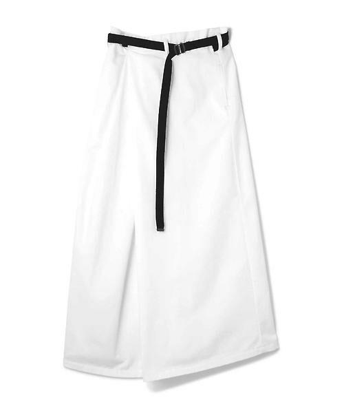 ROSE BUD / ローズ バッド スカート | ベルト付ワイドラップスカート | 詳細1