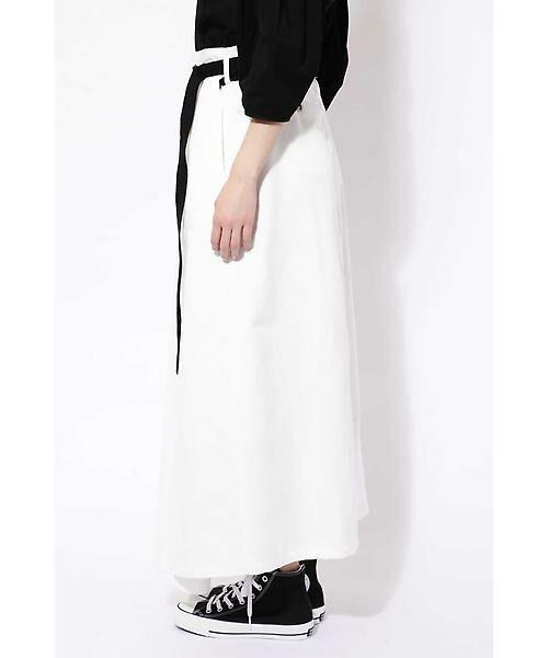 ROSE BUD / ローズ バッド スカート | ベルト付ワイドラップスカート | 詳細2
