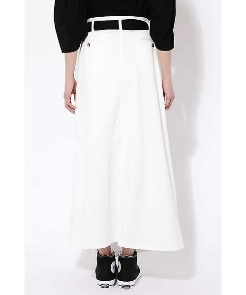 ROSE BUD / ローズ バッド スカート | ベルト付ワイドラップスカート | 詳細3