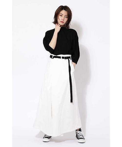 ROSE BUD / ローズ バッド スカート | ベルト付ワイドラップスカート | 詳細4