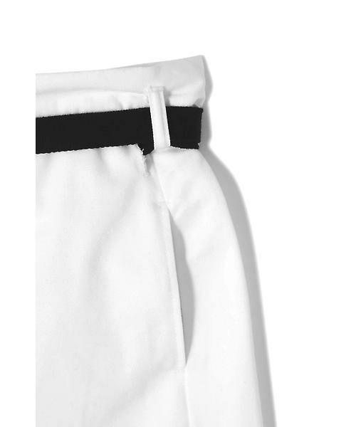ROSE BUD / ローズ バッド スカート | ベルト付ワイドラップスカート | 詳細6