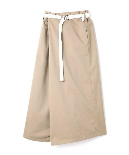 ROSE BUD / ローズ バッド スカート | ベルト付ワイドラップスカート | 詳細11