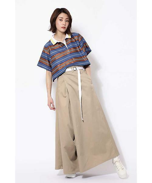 ROSE BUD / ローズ バッド スカート | ベルト付ワイドラップスカート | 詳細13