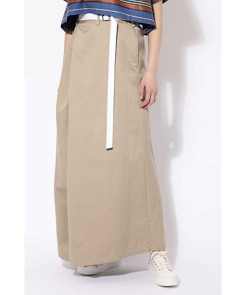ROSE BUD / ローズ バッド スカート | ベルト付ワイドラップスカート(ベージュ1)