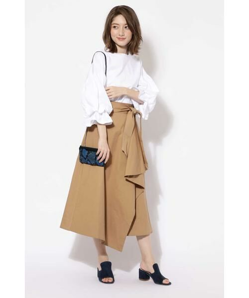 ROSE BUD / ローズ バッド スカート   ハイウエストフリルラップスカート   詳細1