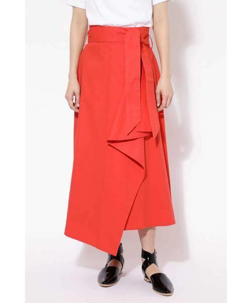 ROSE BUD / ローズ バッド スカート   ハイウエストフリルラップスカート(オレンジ1)