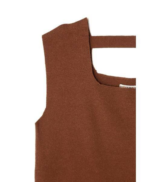 ROSE BUD / ローズ バッド ニット・セーター | スクエアネックノースリーブニット | 詳細9