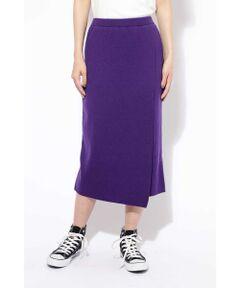 ニット巻き風スカート