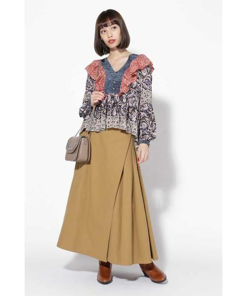 ROSE BUD / ローズ バッド スカート | ラップフレアスカート | 詳細1