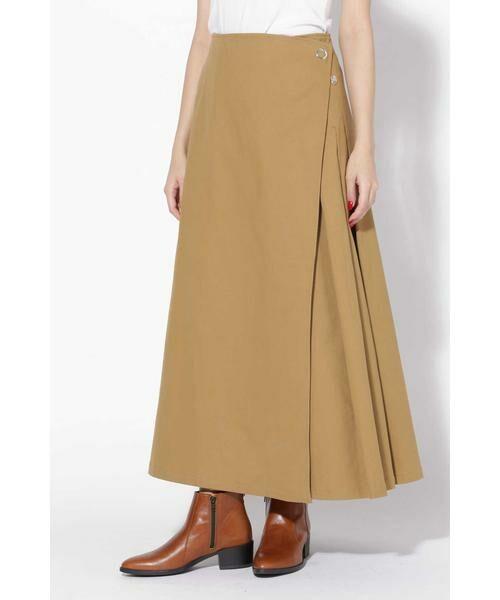 ROSE BUD / ローズ バッド スカート | ラップフレアスカート(ベージュ1)
