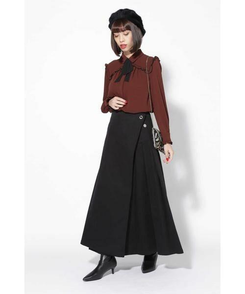 ROSE BUD / ローズ バッド スカート | ラップフレアスカート | 詳細14