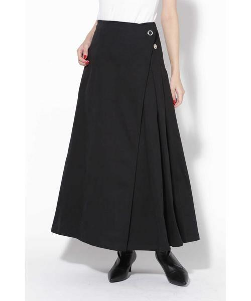 ROSE BUD / ローズ バッド スカート | ラップフレアスカート(ブラック1)