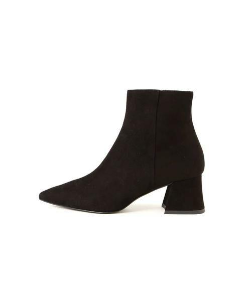 ROSE BUD / ローズ バッド ブーツ(ショート丈) | スウェードショートブーツ(ブラック1)