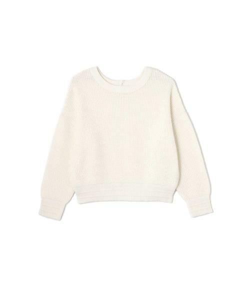 ROSE BUD / ローズ バッド ニット・セーター | ワッフル編みニット(ホワイト)